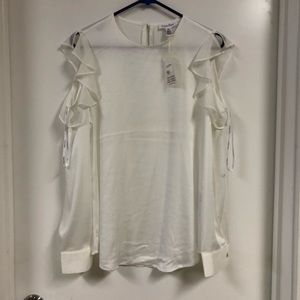 Calvin Klein Satin no shoulder Blouse